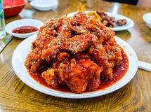 Um prato de galinha coreano Fotos de Stock Royalty Free
