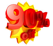 um preço de 90 por cento fora do disconto Fotografia de Stock