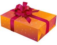 Um presente com fita Imagem de Stock