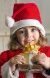 Um presente de Santa Fotografia de Stock Royalty Free