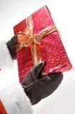 Um presente de Santa Foto de Stock Royalty Free