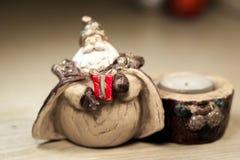 Um presente de Santa Claus foto de stock royalty free
