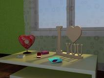 Um presente para o dia de Valentim Imagem de Stock Royalty Free