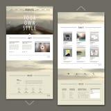 Um projeto atrativo do molde do Web site da página ilustração do vetor