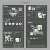 Um projeto atrativo do Web site da página ilustração do vetor