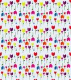 Um projeto colorido do vetor das tulipas da mola do fundo Fotografia de Stock