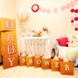 Um projeto da festa do bebê Fotografia de Stock