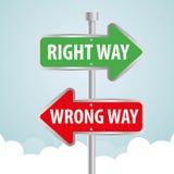 Um projeto da propaganda do sinal de estrada da maneira, Fotos de Stock