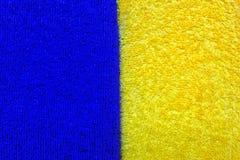 Um projeto de duas cores de azul e de amarelo fotografia de stock