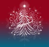 Um projeto elegante da árvore de Natal Imagem de Stock Royalty Free