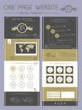 Um projeto elegante do molde do Web site da página Foto de Stock Royalty Free