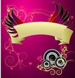 Um projeto musical beauitful do vetor da bandeira Foto de Stock Royalty Free