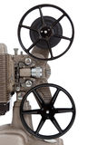 Um projetor de filme do vintage em um fundo branco Fotos de Stock