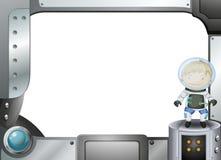 Um quadro com um astronauta Imagens de Stock