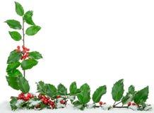 Um quadro da beira do canto do Natal Fotografia de Stock Royalty Free
