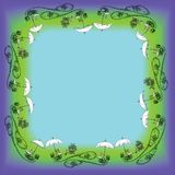 Um quadro em um escuro - fundo azul, verde do equipamento exterior foto de stock royalty free