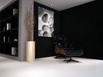 Um quarto luxuoso da sala de estar do estudo projetado Fotos de Stock Royalty Free