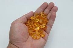 Um que guarda muitas gemas, fundo branco Imagem de Stock Royalty Free