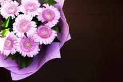 Um ramalhete bonito de herbers cor-de-rosa foto de stock royalty free