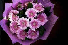 Um ramalhete bonito de herbers cor-de-rosa fotos de stock royalty free
