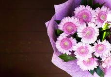 Um ramalhete bonito de herbers cor-de-rosa fotografia de stock royalty free