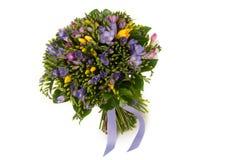 Um ramalhete das flores em um fundo branco Foto de Stock Royalty Free