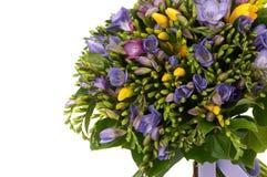 Um ramalhete das flores em um fundo branco Fotografia de Stock