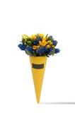 Um ramalhete das flores em um fundo branco Imagens de Stock Royalty Free