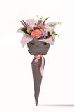 Um ramalhete das flores em um fundo branco Fotos de Stock
