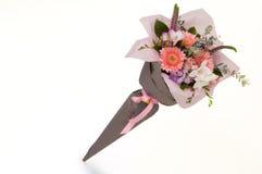 Um ramalhete das flores em um fundo branco Foto de Stock