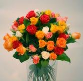 Um ramalhete das rosas Imagens de Stock