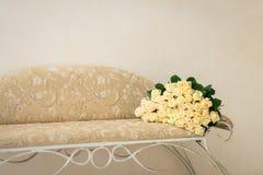 Um ramalhete de rosas amarelas Fotos de Stock