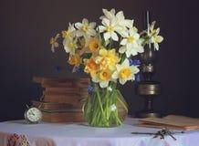 Um ramalhete dos narcisos amarelos Fotos de Stock Royalty Free