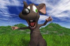Um rato que está sendo perseguido Fotos de Stock