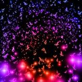 Um rebanho das borboletas nos tons violetas ilustração do vetor