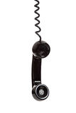 Um receptor de telefone preto em um fundo branco Imagem de Stock Royalty Free
