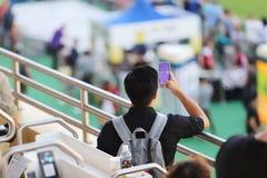 um recolhimento de Hong Kong Crowd e dos povos foto de stock royalty free