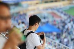 um recolhimento de Hong Kong Crowd e dos povos foto de stock