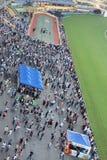 um recolhimento de Hong Kong Crowd e dos povos fotografia de stock royalty free
