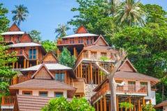Um recurso luxuoso em Phi Phi Island, uma ilha tropical de Tailândia Fotos de Stock Royalty Free