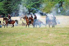Reenactment da guerra civil imagem de stock royalty free