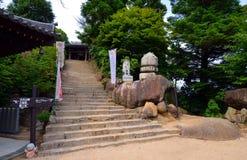 Um Reikado Hall, Berg Misen-Spur auf Miyajima Japan Lizenzfreie Stockbilder