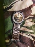 Um relógio marcado foto de stock