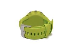 Um relógio verde dos esportes Fotografia de Stock