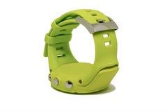 Um relógio verde dos esportes Fotos de Stock