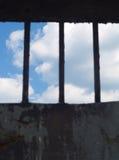 Um relance da liberdade - céu no foco Fotos de Stock Royalty Free