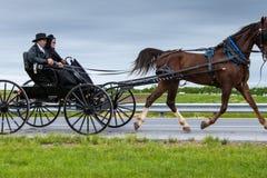 Um relance do estilo de vida tradicional na vila de Amish, Pensilvânia foto de stock royalty free