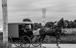 Um relance do estilo de vida tradicional na vila de Amish, Pensilvânia imagem de stock royalty free