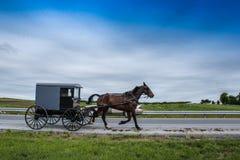 Um relance do estilo de vida tradicional na vila de Amish, Pensilvânia fotografia de stock