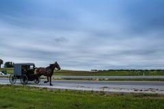 Um relance do estilo de vida tradicional na vila de Amish, Pensilvânia imagens de stock royalty free